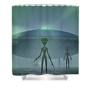 Visitors Shower Curtain by Carol and Mike Werner