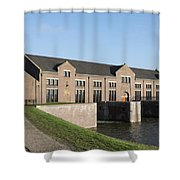 Visitors Centre Of The Woudagemaal Shower Curtain