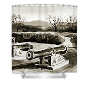 Visitors Welcome Bw Shower Curtain