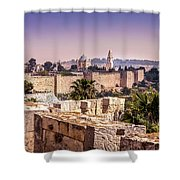 Vista From The Parapet Shower Curtain