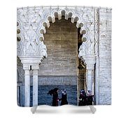 Vistors At The Mausoleum  Shower Curtain