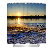 Vistula River Sunset 3 Shower Curtain