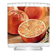 Vitamin C Shower Curtain by Irina Sztukowski