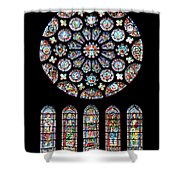 Vitraux - Cathedrale De Chartres - France Shower Curtain