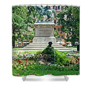 Vittorio Emanuele II Statue Shower Curtain