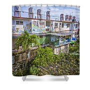 Viva Cuba Mosaic Havana Shower Curtain