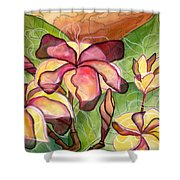 Vivian's Plumeria Shower Curtain