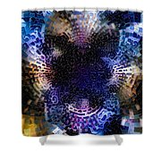Vivid Abstract Shower Curtain