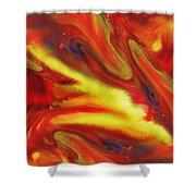 Vivid Abstract Vibrant Sensation IIi Shower Curtain
