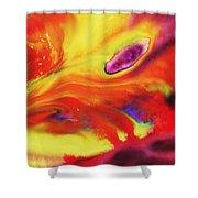 Vivid Abstract Vibrant Sensation Iv Shower Curtain