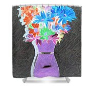 Vivid Arrangement Shower Curtain