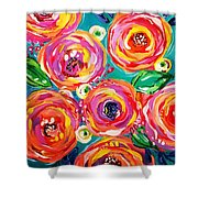 Vivid Flora Shower Curtain