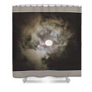 Vivid Full Moon Shower Curtain