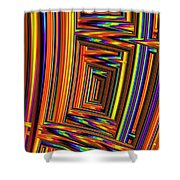 Vivid Geometric Lines Shower Curtain