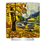 Vivid Pipeline Trail Shower Curtain