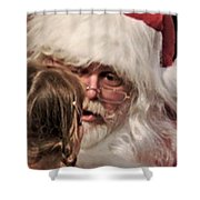 Vivid Santa  Shower Curtain