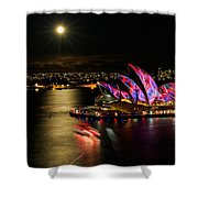 Vivid Sydney Under Full Moon Shower Curtain