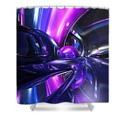 Vivid Waves Abstract Shower Curtain
