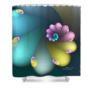 Vivid Whisper Shower Curtain