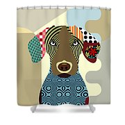 Vizsla Dog Shower Curtain
