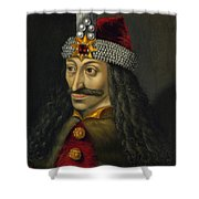 Vlad The Impaler Portrait  Shower Curtain