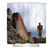 Dracula Aka Vlad The Impaler Real Castle Shower Curtain