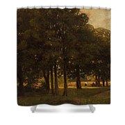 Vladimir Donatovich Orlovsky  Russian 1842  1914 Summer Landscape Shower Curtain