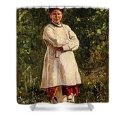 Vladimir Yegorovich Makovsky Russian 1846  1920   Ukrainian Girl, 1898 Shower Curtain