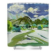 Vlora River, Albania - Lumi I Vlores Shower Curtain