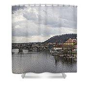 Vltava River Scene Shower Curtain