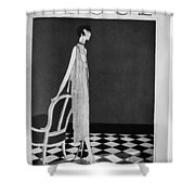 Vogue Magazine, 1925 Shower Curtain