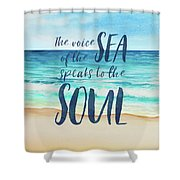 Voice Of The Sea Shower Curtain