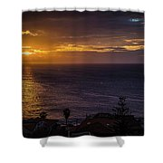 Volcanic Sunrise Shower Curtain