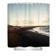 Volcano Black Sand Beach Shower Curtain