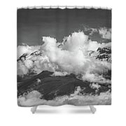 Volcano Chachani In Arequipa Peru Covered By Clouds Shower Curtain