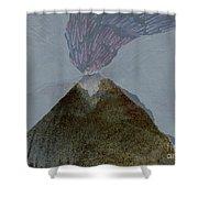 Volcano Dawn - Original Acrylic Painting Shower Curtain