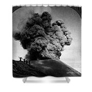 Volcano: Java, 1910 Shower Curtain