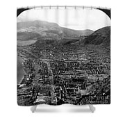 Volcano: Mount Pelee, 1902 Shower Curtain