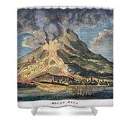 Volcano: Mt. Etna Shower Curtain