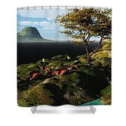 Volcano View Shower Curtain