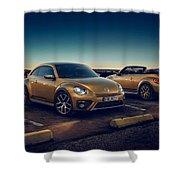 Volkswagen Beetle Dune 4k 2 Shower Curtain