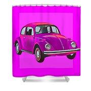 Volkswagen Beetle So Pinks Shower Curtain
