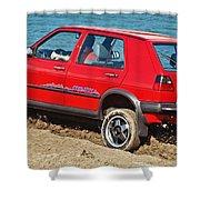 volkswagen Golf II  Shower Curtain