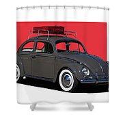 Volkswagen Vw Beetle Shower Curtain