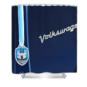 Volkswagen Vw Bug Hood Emblem Shower Curtain