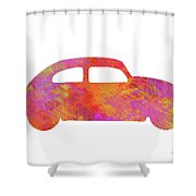 Volkswagom Beetle Art Flames Shower Curtain
