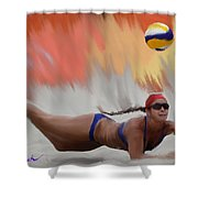 Volleyball Dig Shower Curtain