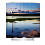 Volleyball Sunset Shower Curtain