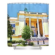 Volusia County Court House Yellow Shower Curtain