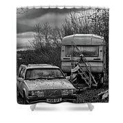 Volvo And Trailer Shower Curtain